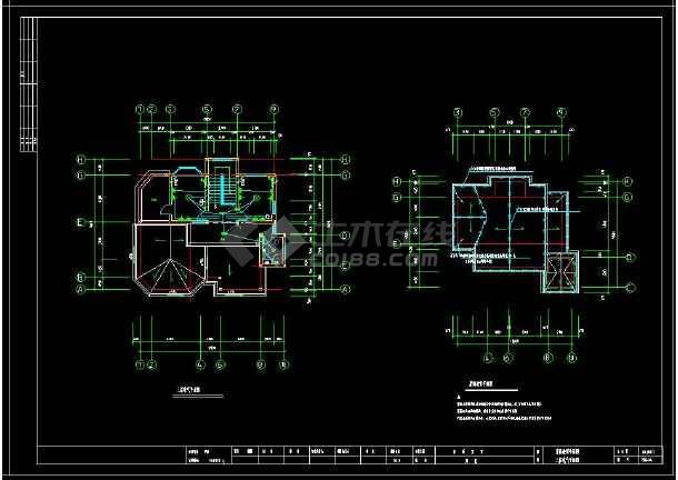 某地多层精美小别墅建筑电气设计cad施工图(含设计说明)-图2