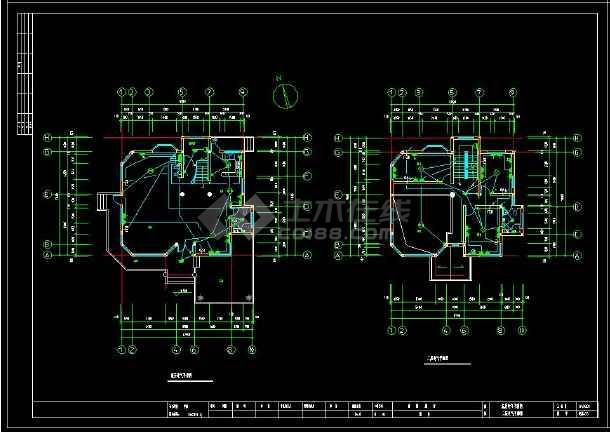 某地多层精美小别墅建筑电气设计cad施工图(含设计说明)-图3