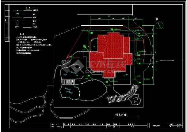 某地多层住宅别墅建筑给排水设计cad施工图(含设计说明)-图1