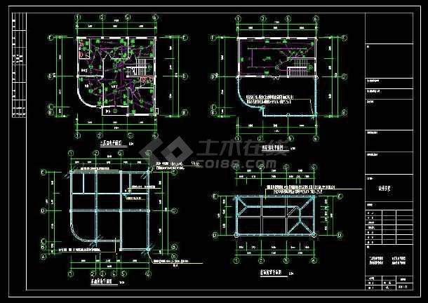 某地多层精品别墅建筑电气设计cad施工图(含设计说明)-图2