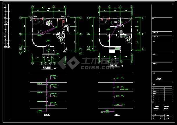某地多层精品别墅建筑电气设计cad施工图(含设计说明)-图3