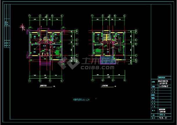 某小区多层住宅别墅建筑电气设计cad施工图(含设计说明)-图1
