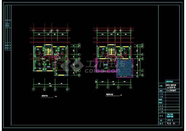 某小区多层住宅别墅建筑电气设计cad施工图(含设计说明)-图2