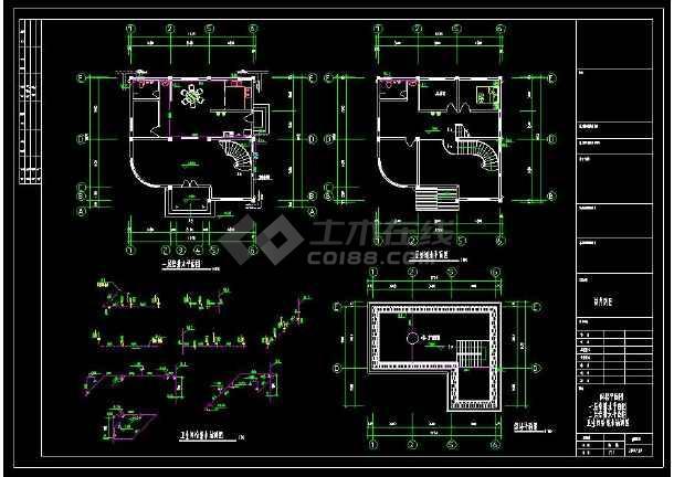 某生活区四层住宅别墅建筑给排水设计cad施工图(含设计说明)-图1