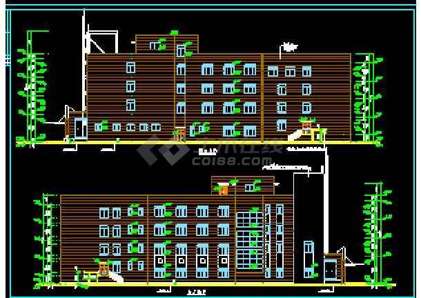 某大型宾馆洗浴部建筑CAD设计施工立面图-图3