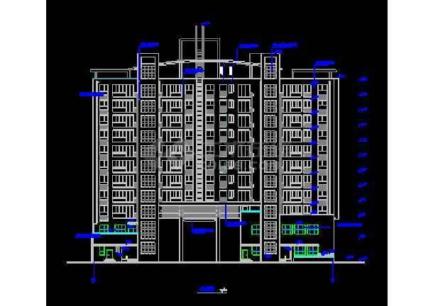 某市商住楼设计建筑CAD施工平立面图纸-图1