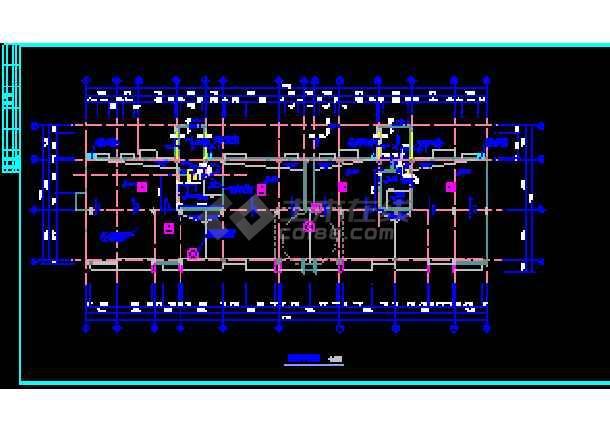 某市商住楼设计建筑CAD施工平立面图纸-图3