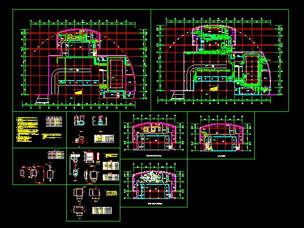 某住宅地下室中央空调全套cad平面施工图图片1
