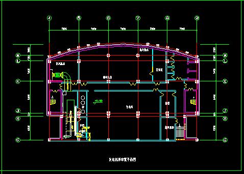 某住宅地下室中央空调全套cad平面施工图图片2