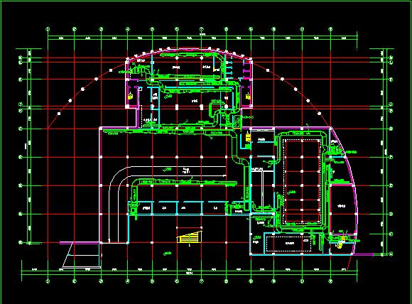 某住宅地下室中央空调全套cad平面施工图图片3