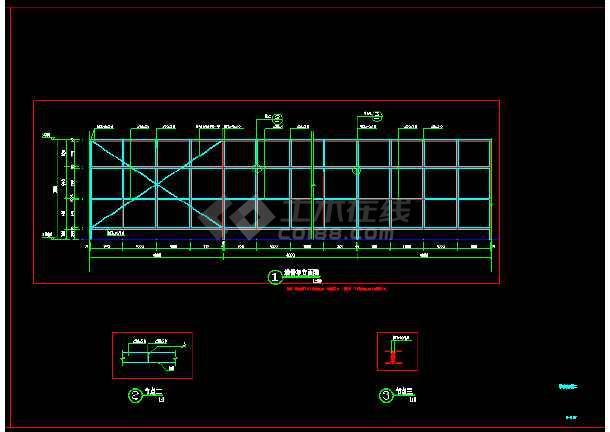 仿真植物绿毯围挡展示区围挡详细施工图做法-图1