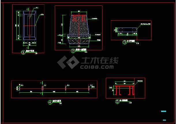 仿真植物绿毯围挡展示区围挡详细施工图做法-图2