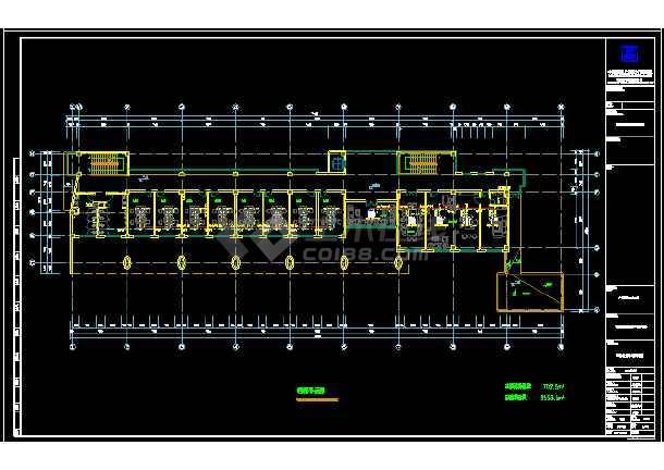 某职业技术学校综合楼暖通cad施工图-图1