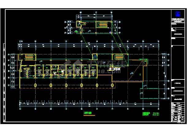 某职业技术学校综合楼暖通cad施工图-图2