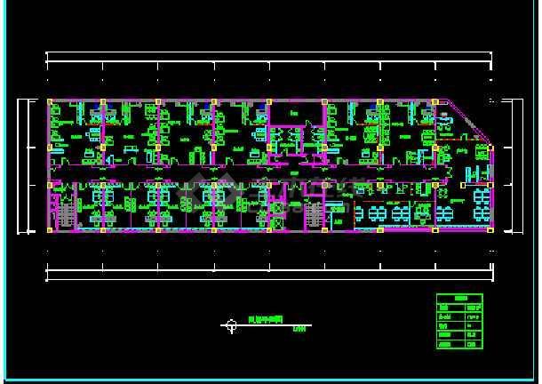 某市阿里郎宾馆方案建筑CAD施工平面设计图纸-图2