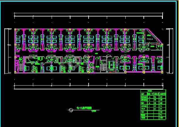 某市阿里郎宾馆方案建筑CAD施工平面设计图纸-图3