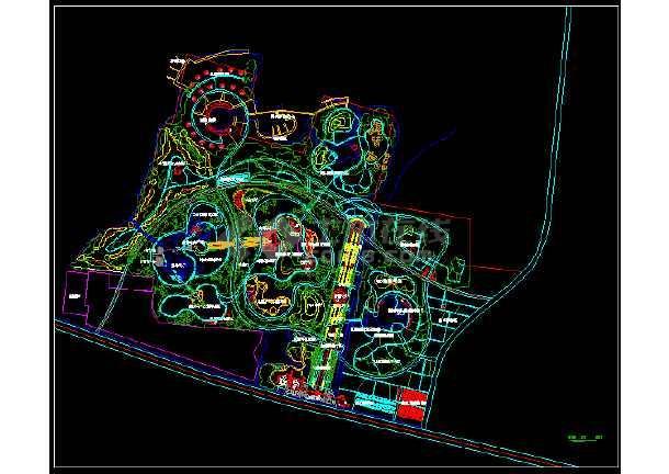 某地植物园景观规划设计图纸-图1