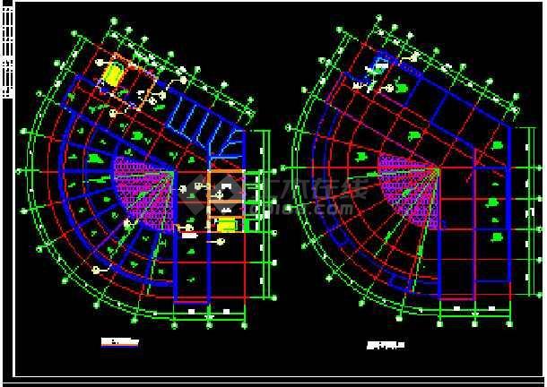 某新酒店建筑CAD施工设计平立面图纸-图1