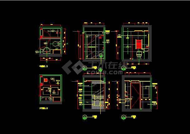朗琴园10号楼多户型施工图纸(含效果图)-图1