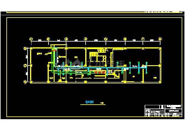 天津某综合楼暖通空调设计cad施工方案图-图3