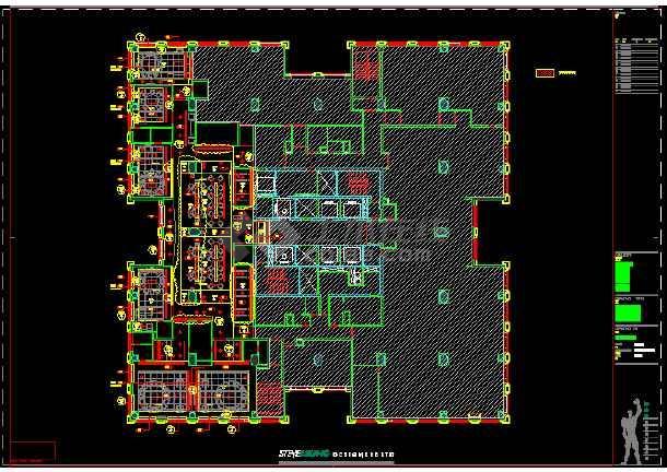 一套某餐厅建筑施工图(附实景照片)-图3