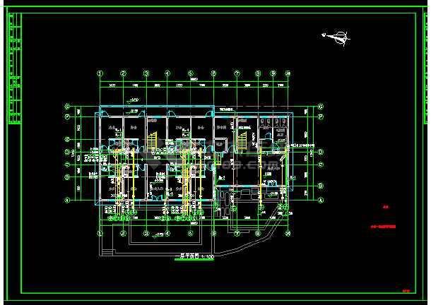 """板桥村村部办公楼及室外工程""""给排水""""设计-图1"""