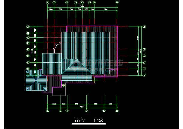 二层独栋别墅建筑施工图纸(共6张)-图1