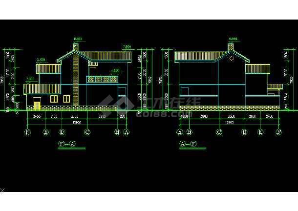 比较简单的农村别墅建筑施工图纸(共4张)-图3