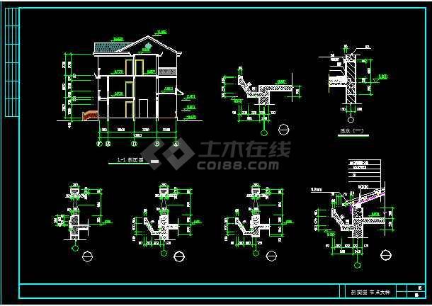 一套简单的新型农村住宅建筑施工图纸-图2