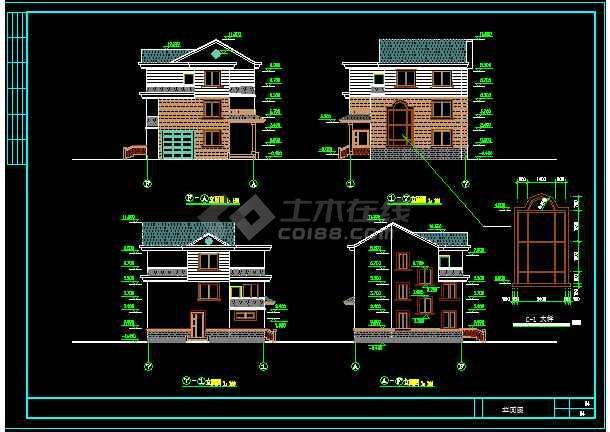 一套简单的新型农村住宅建筑施工图纸-图3