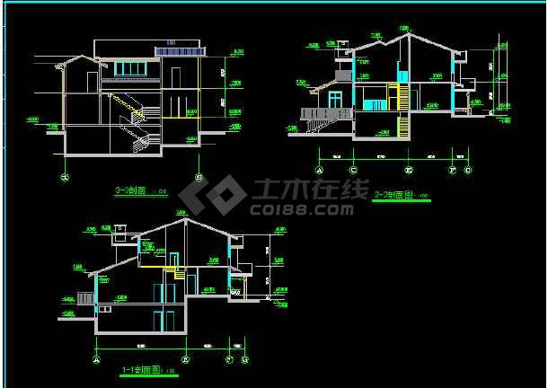 一套别墅建筑施工图纸(含设计说明)-图3