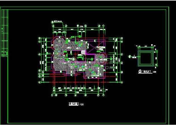 某地别墅建筑结构施工图(带效果图)-图2