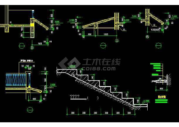 二层别墅建筑施工图纸(含设计说明)-图3