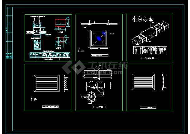 全套风管_风口_管件_阀门暖通安装CAD节点详图-图1