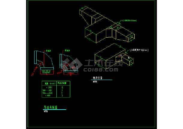 全套风管_风口_管件_阀门暖通安装CAD节点详图-图3