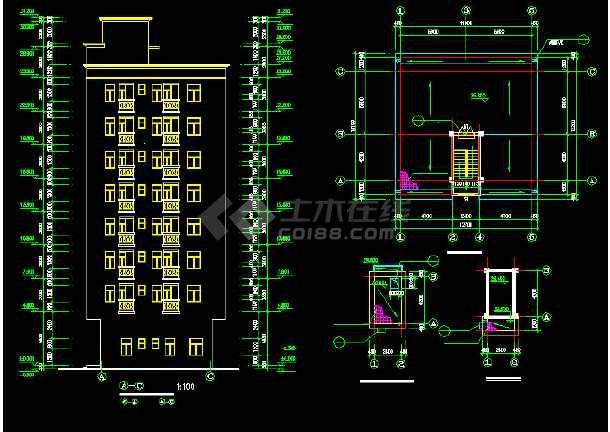 一套简单的标准农民房建筑施工图纸-图3