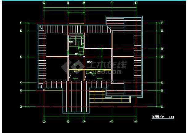 某地现代风格别墅建筑图纸(共9张)-图2