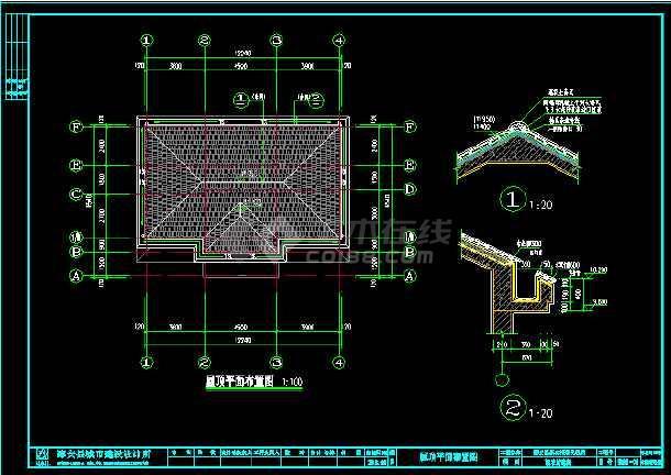 某地豪华别墅建筑cad设计结构施工图-图2