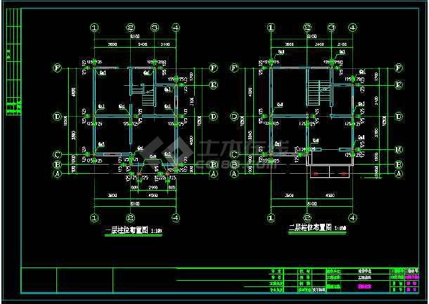 某三层别墅建筑cad结构设计施工图-图2
