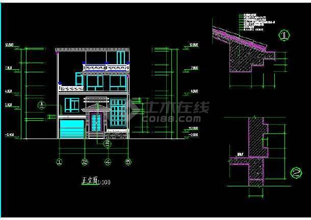 一套简单的新农村自建房建筑施工图纸-图3