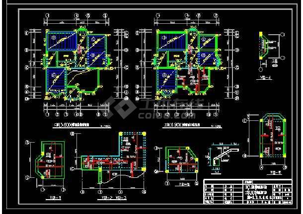 某地多层别墅建筑cad结构设计施工图带效果图-图3