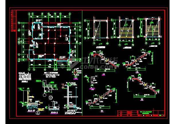 某实用自建别墅cad结构设计施工图-图2