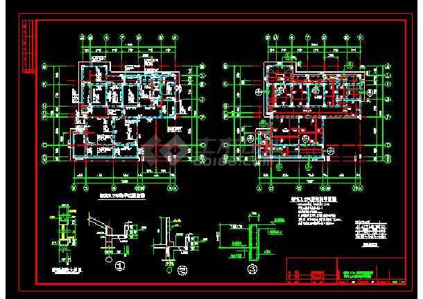 某实用自建别墅cad结构设计施工图-图3