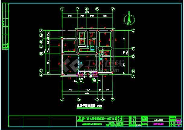 经典小别墅建筑cad建筑结构施工图-图2