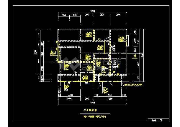 某精致别墅cad建筑及结构全套施工图-图1