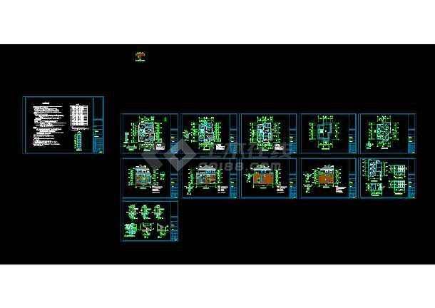 一个实用农居别墅cad建筑结构设计施工图-图2