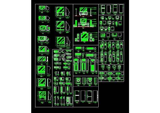 点击查看经典室内装修图块-CAD设计家用电器素材图第1张大图