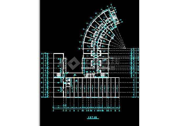 某市酒店建筑全套CAD设计施工平立面图纸-图3