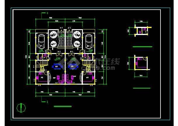 某地三层洋别墅cad建筑结构设计图-图1