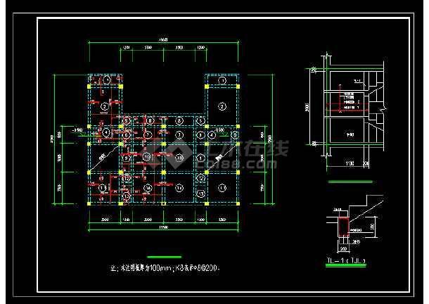 某地三层洋别墅cad建筑结构设计图-图3